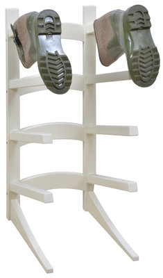 Esschert Design Laarzenrek staand robuust wit