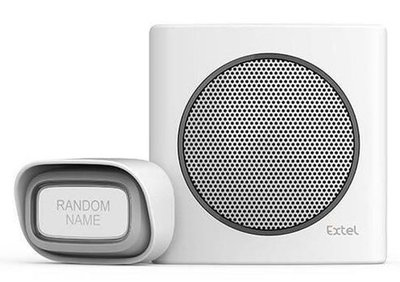 Extel diBi Plug white draadloze deurbel