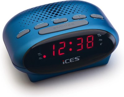Ices ICR-210 blauw wekkerradio