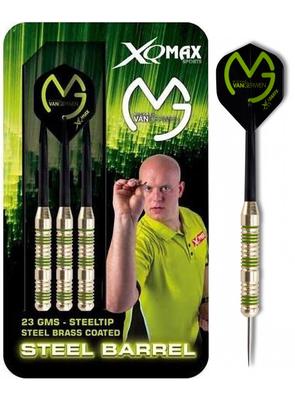 Michael van Gerwen Mighty Mike Green brass steeltip dartpijlen