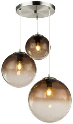 Globo Varus black three lamp holders hanglamp