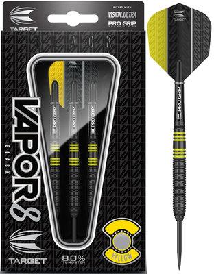 Target Vapor8 Black Yellow 80% steeltip dartpijlen