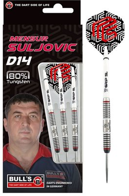 Bull's Mensur Suljovic D14 80% steeltip dartpijlen