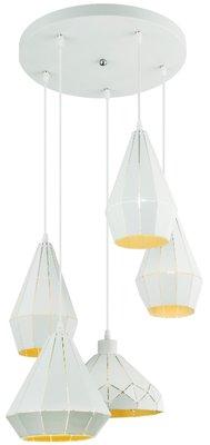 Globo Mosaic white five lamp holders hanglamp