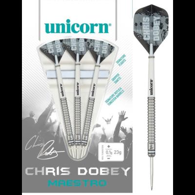 Unicorn Maestro Chris Dobey 90% steeltip dartpijlen