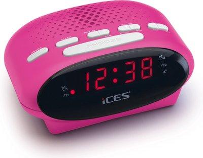 Ices ICR-210 roze wekkerradio