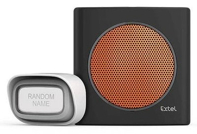 Extel diBi Flash soft orange draadloze deurbel