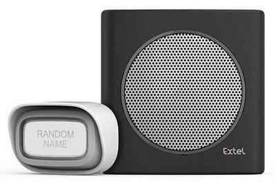 Extel diBi Flash soft black draadloze deurbel