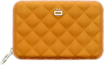Ögon Quilted Zipper Orange creditcardhouder