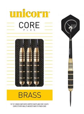 Unicorn Core Plus Brass steeltip dartpijlen