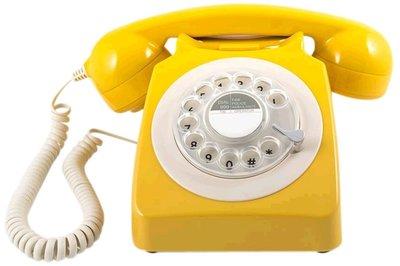 GPO 746 Rotary mosterdgeel klassieke telefoon