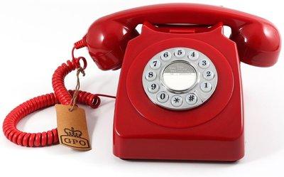 GPO 746 Push rood klassieke telefoon