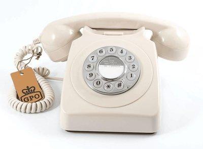 GPO 746 Push ivoor klassieke telefoon