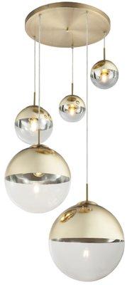 Globo Varus gold five lamp holders hanglamp