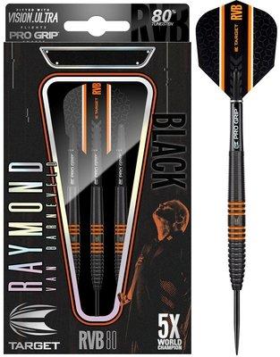 Target 80% Raymond van Barneveld Black steeltip dartpijlen