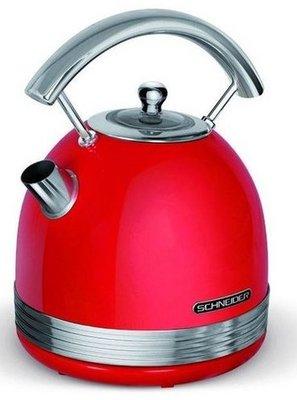 Schneider SCKE17R rood waterkoker 2200W