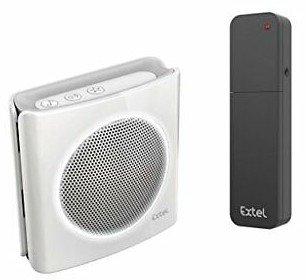 Extel diBi More white geluidsgeactiveerde draadloze deurbel