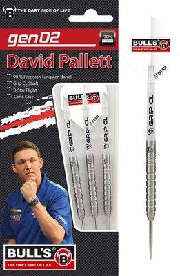 Bull's David Pallett Generation II 90% steeltip dartpijlen