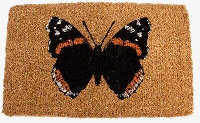 Esschert Design Vlinder rechthoek kokosmat