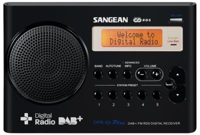 Sangean DPR-69 zwart DAB+ radio
