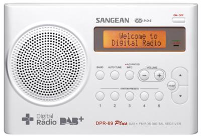 Sangean DPR-69 wit DAB+ radio