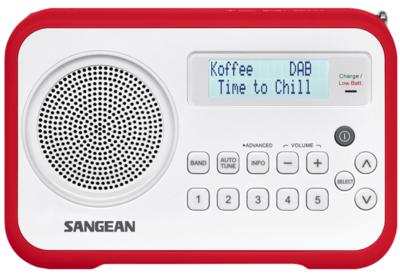 Sangean DPR-67 rood DAB+ radio