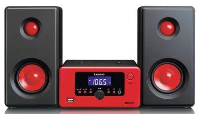 Lenco MC-020 rood tafelradio