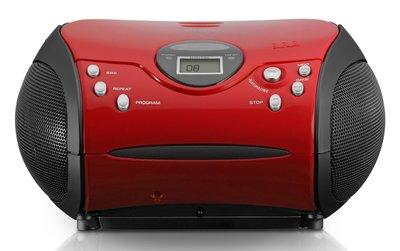 Lenco SCD-24 rood draagbare radio