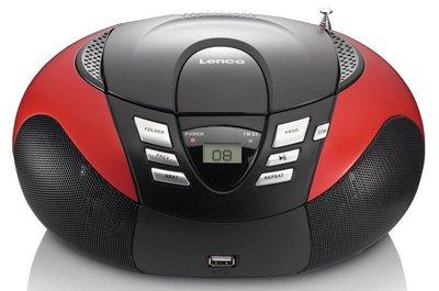 Lenco SCD-37 rood draagbare radio