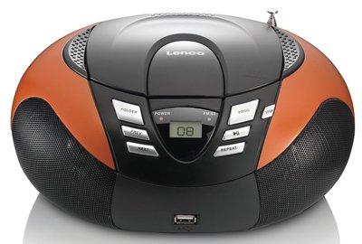 Lenco SCD-37 oranje draagbare radio