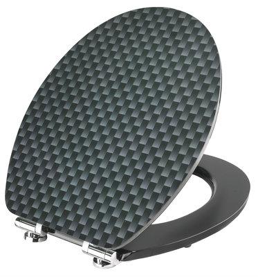 Cornat Carbon decor toiletbril
