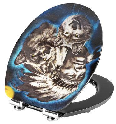 Cornat Howling Wolf 3D decor toiletbril