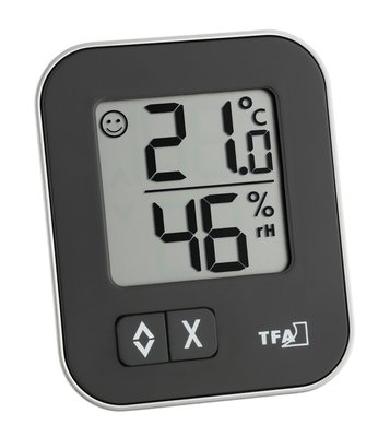 TFA Moxx black thermometer