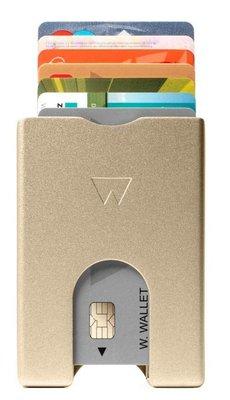 Walter Wallet Gold Aluminium creditcardhouder