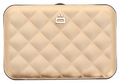 Ögon Quilted Button Rose Gold creditcardhouder