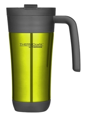 Thermos Inox Flip Lime thermosbeker 0.425 liter