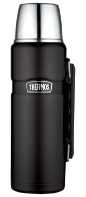 Thermos King Matzwart thermosfles 1.2 liter