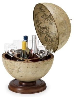 Antiqua Urano Desk barglobe