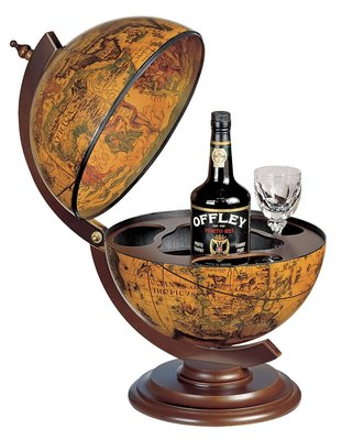 Firenze Sfera 33 Ebony Desk barglobe