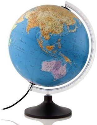 Atmosphere Politic wereldbol met verlichting