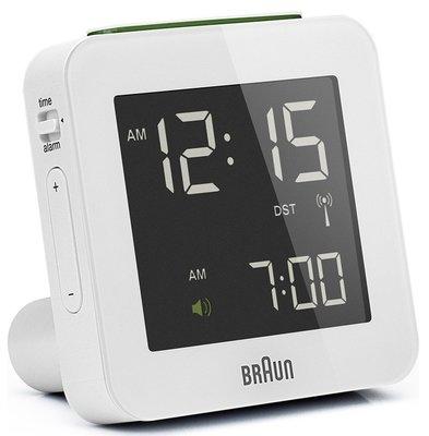 Braun BNC009 wit 8 cm radiogestuurde wekker