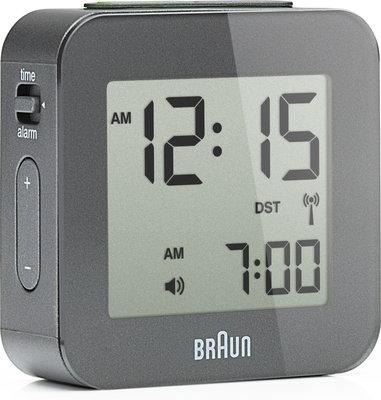 Braun BNC008 grijs 6 cm radiogestuurde wekker