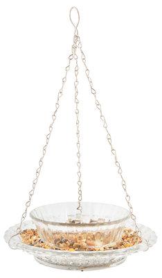Esschert Design vintage voederkom ruitjesglas