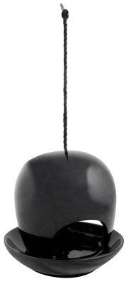 Esschert Design vogelvoederhuis keramiek zwart