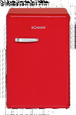 Bomann VSR 352 rood A++ koelkast (130 liter)