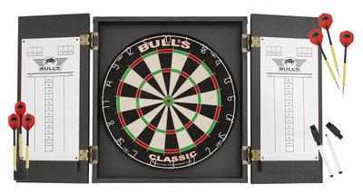 Bull's Classic sisal dartset met kabinet
