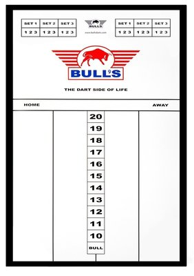 Bull's Styreen Small scorebord in lijst