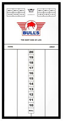 Bull's Styreen Medium scorebord in lijst