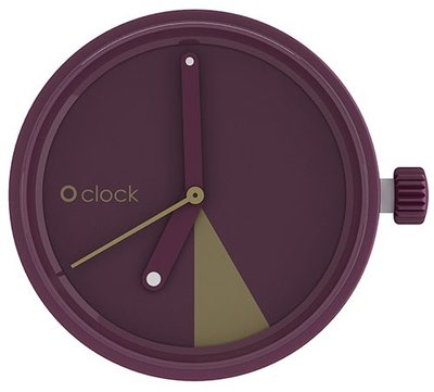 O clock klokje slice bordeaux