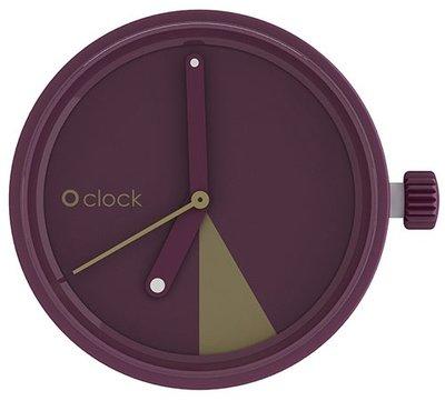 O clock klokje slice bordeaux